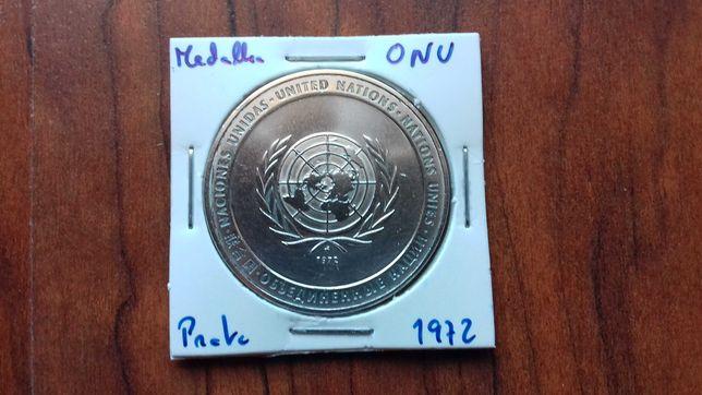 Medalha de Prata ONU - 1972 (Pela Paz)