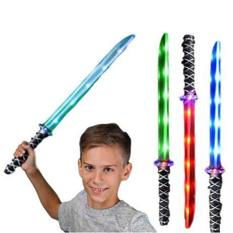 Световой звуковой детский светящийся меч Самурая Катана воин. Новинка