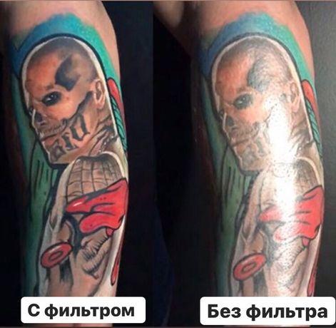 Поляризационный фильтр cpl линза iphone телефона tattoo тату полярик