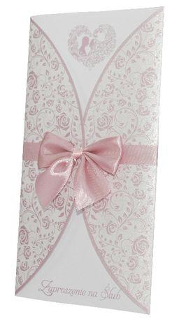 Zaproszenia na ślub - kolekcja FLORAL RÓŻ + koperta