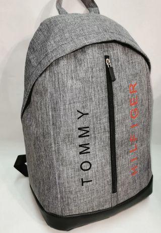Новый рюкзак для мальчика Tommy Hilfiger с кожаным дном.