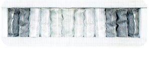 Materac 140x200+visco memory, wys. 22cm, kieszeniowy,7stref, zima/lato