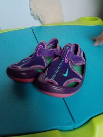 Nike sunreise fioletowe sandalki sandaływysyłka 5zl