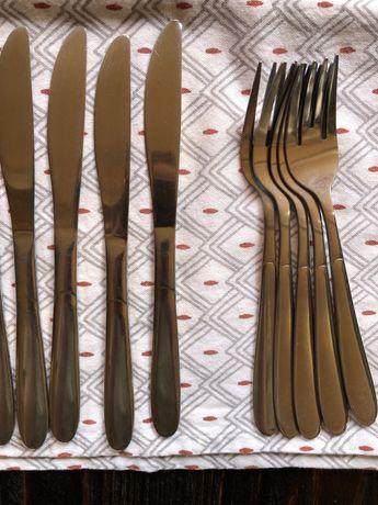 прибори, вилка, ніж, ложечки для кави