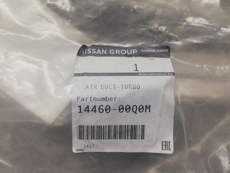 Przewód turbo  Nissan Qashqai 1.2 DIG-T 115km