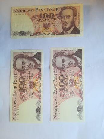 Banknoty, PRL, przedwojenne, zabytek