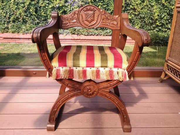 Fotel Krzyżak krzesło Antyk