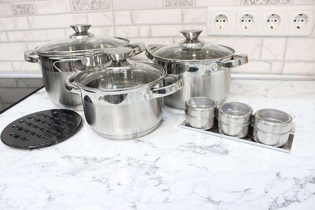 Набор Индукционной Посуды Кастрюль Нержавеющая Посуда BN-245