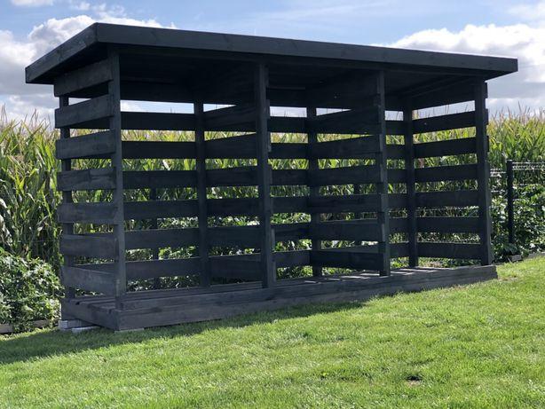 Drewutnia solidna konstrukcja na około 9m3 drewna