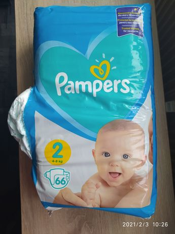Pampers 66 szt r2