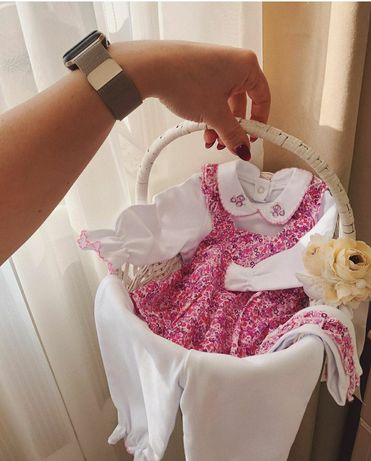 Комплект костюм набор для девочки 0-3 мес