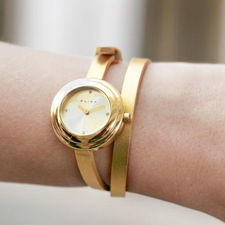 Zegarek Elixa damski złoty na pasku