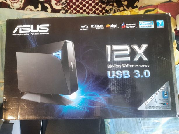 Внешний оптический привод Asus Blu-ray USB 3.0 BW-12D1S-U