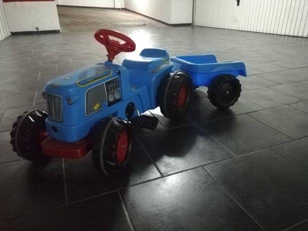 Tractor a pedais RollyKiddy Classic Azul