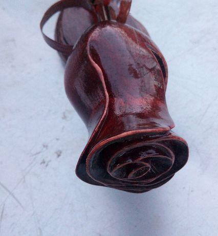 Роза из дерева ручной работы