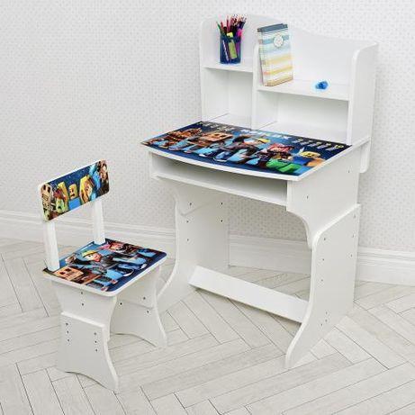 Парта деревянная детская столик со стульчиком для детей комплект мебел