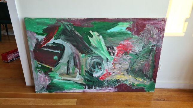 Quadro abstracto moderno em tela pronto a pendurar