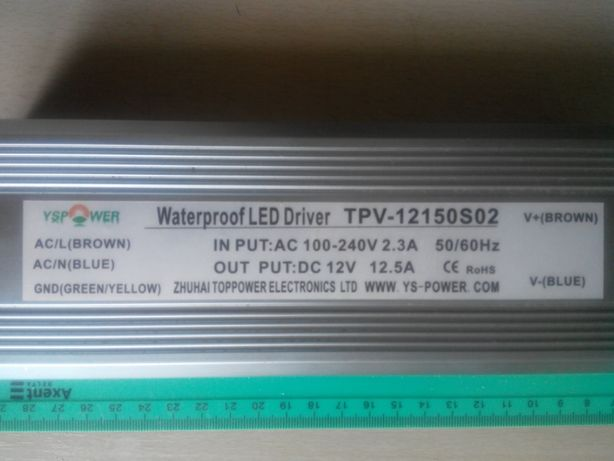 Блок розжега Waterproof LED Driver TPV-12150So2 12V-12,5A 150Wt