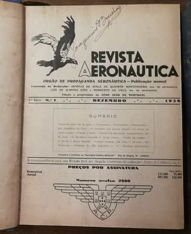 revista do ar, dezembro 1930 nº 1 a agosto 1950 nº 142, aeronautica