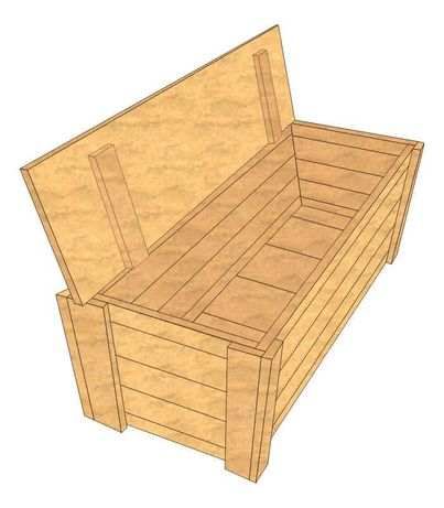 Kufer Skrzynia Ławka na balkon do ogrodu - drewno