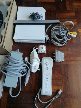 Nintendo wii+5 jogos+ acessórios