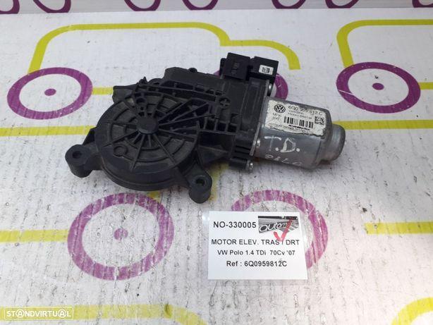 Motor de Elevador de Vidro Frt / Esq VW Polo 1.4 TDi 70Cv de 2007 - Ref : 6Q0959812C - NO330005