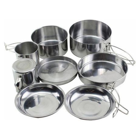 Набор Посуды Металлический для Туризма
