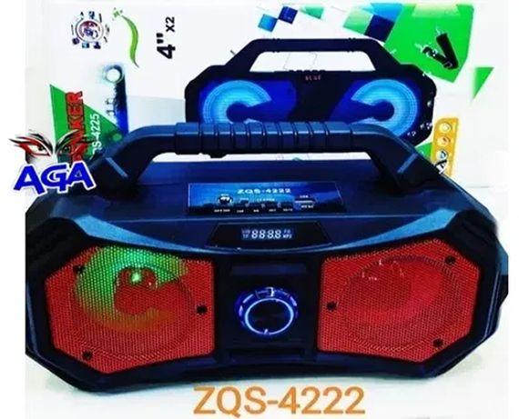Mobilny Głośnik BOOMBOX Bluetooth Karaoke Radio FM LED Light ZQS-4222