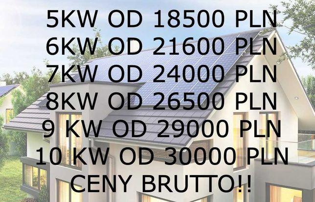 Fotowoltaika / Panele / 5kW 18500 PLN / 20 lat gwarancji na montaż