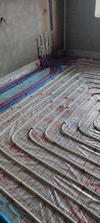 Монтаж опалення, теплої підлоги, водопостачання в квартирах, будинках.