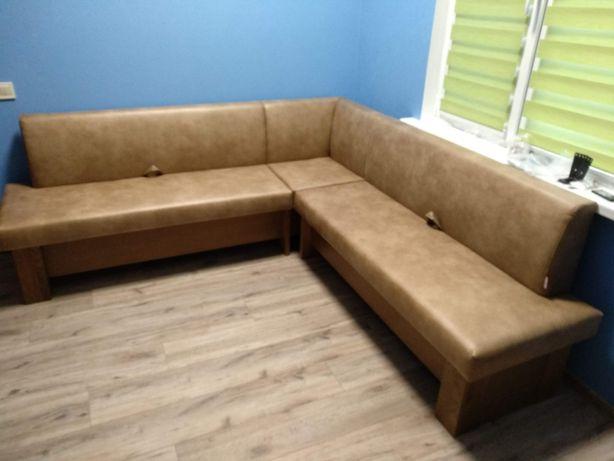 Угловой диван из массива ясеня