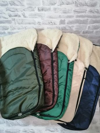Качественные зимние конверты на овчине в коляску и санки