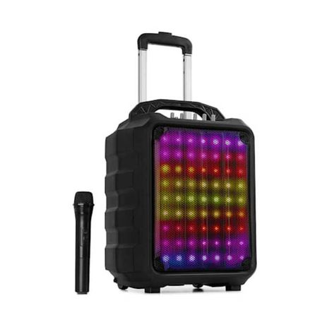 Kolumna Aktywna Bluetooth 100W Auna Mikrofon Karaoke! z AKU ! LED !