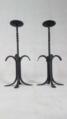 Para kutych żeliwnych świeczników design świecznik