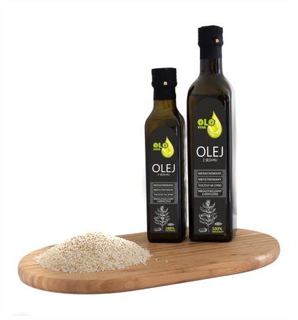 olej z sezamu tłoczony na zimno 500ml
