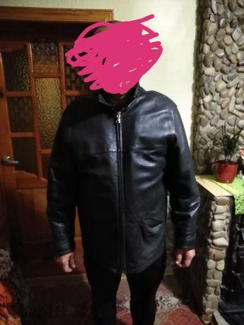 Терміново шкіряна чоловіча куртка зимова