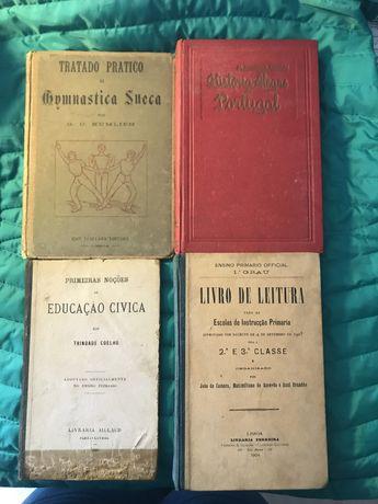 Livros escolares Trindade Coelho Kumlien Pinheiro Chagas Raul Brandão