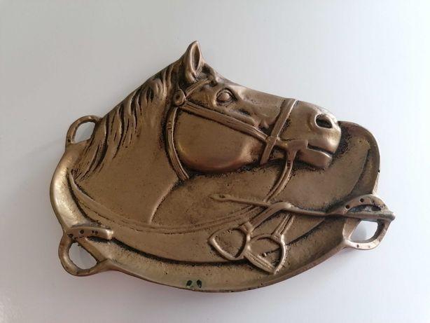 Pisa-papéis / Aneleira / Cinzeiro em Bronze com motivo Cavalo de 60s