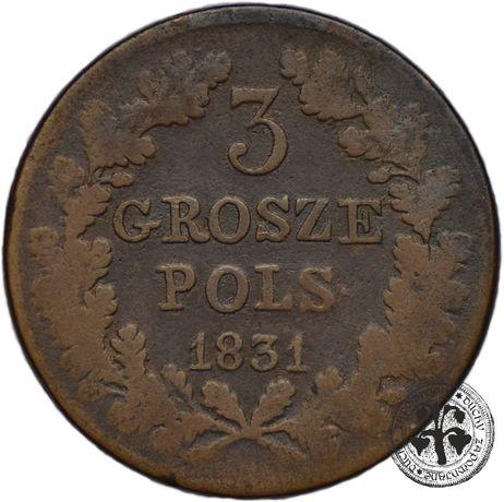 Polska Powstanie Listopadowe 3 grosze 1831 Warszawa