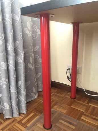 2 pernas para secretária vermelhas - IKEA