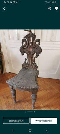 Zydel krzesło barok antyki antyczne przedwojenne