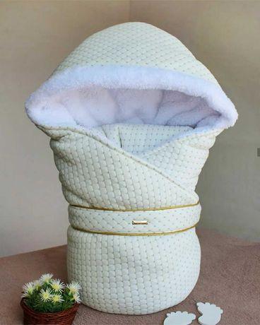 Конверт зимовий для немовля, може бути ковдрою