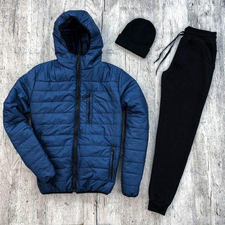 Мужская Куртка + утепленные штаны + шапка в подарок!