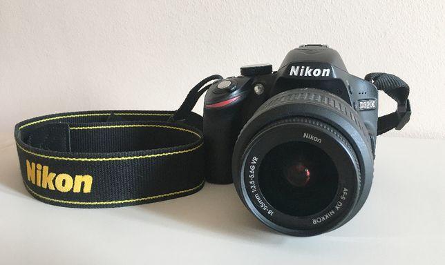 lustrzanka Nikon D3200+ obiektywy