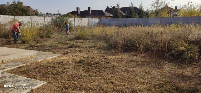 Спил деревьев,культивация земли,вспашка уборка территории, покос травы