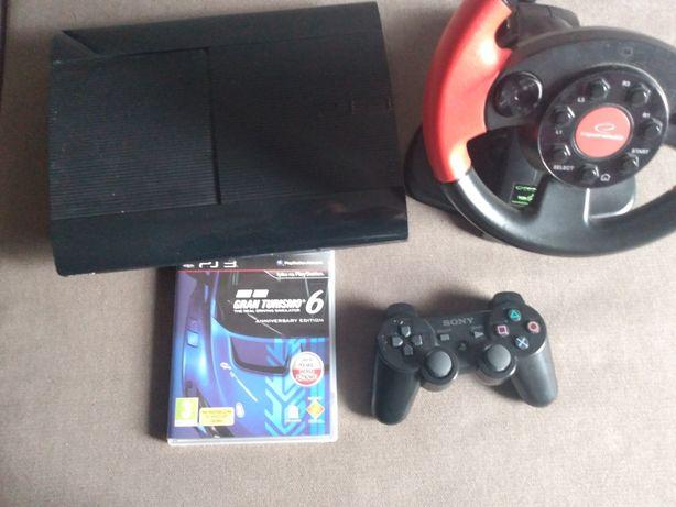PlayStation3 z kierownicą padem i 1 gra grand turismo