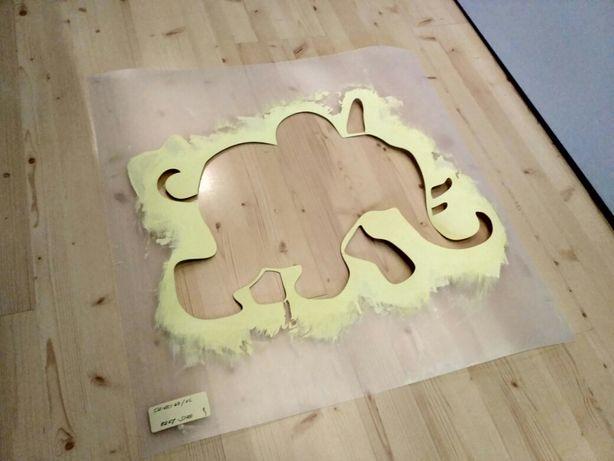 Szablon malarski z tworzywa wielorazowy wzór dla dzieci 43 słonik Słoń