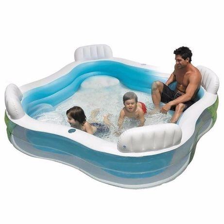 Детский надувной бассейн басейн Intex 229х229х66 см