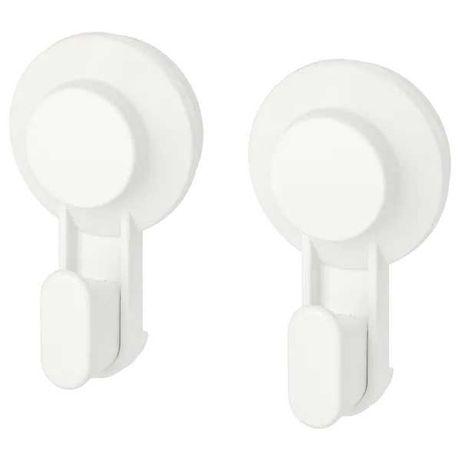 Крючки на присосках IKEA белые вешалки для полотенец 2 шт