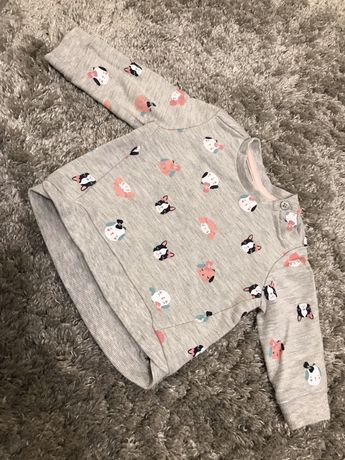 Szara bluza baby club C&A